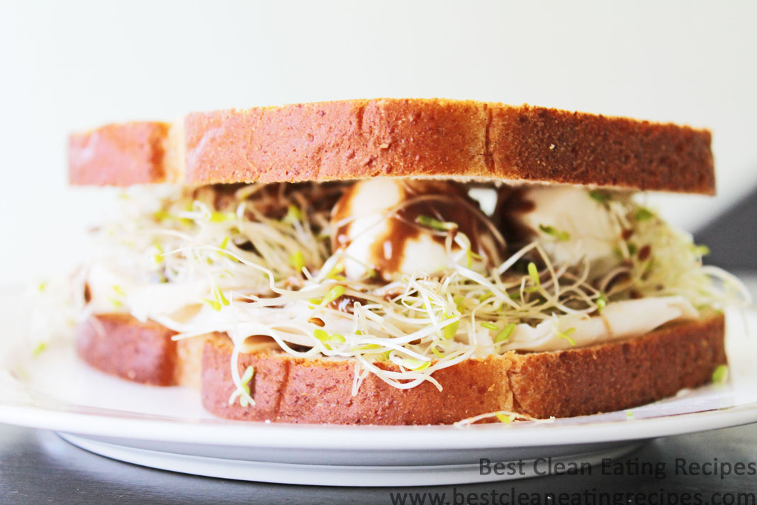 Clean Eating Recipe – Turkey Alfalfa Sprouts Sandwich