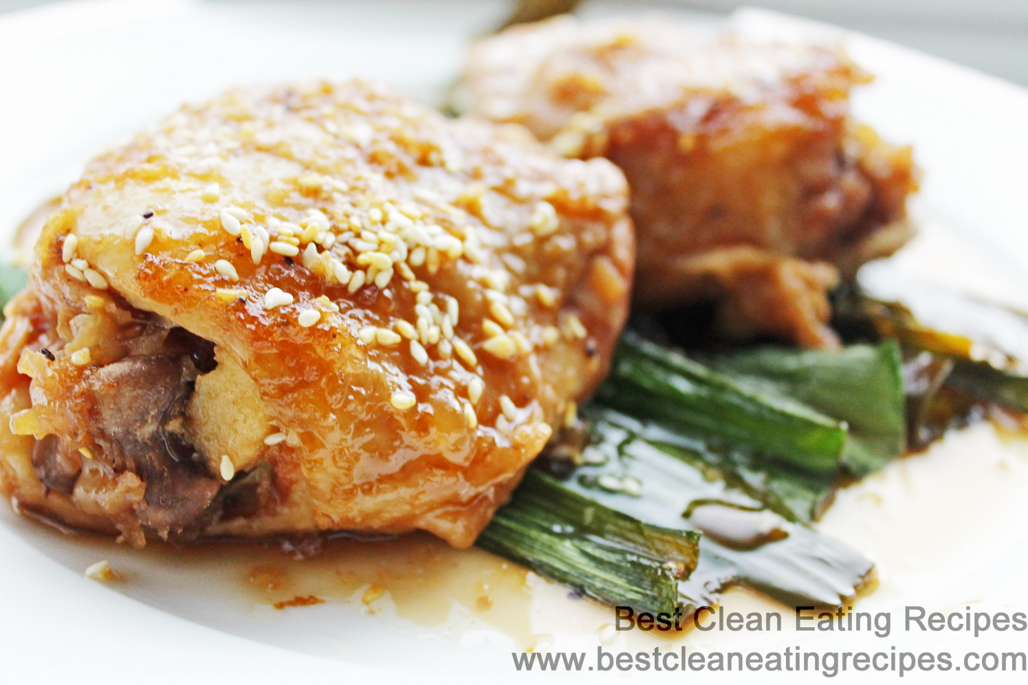 Clean Eating Recipe – Baked Chicken and Leeks in Korean BBQ Sauce
