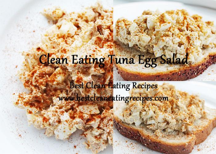 tuna egg salad collage