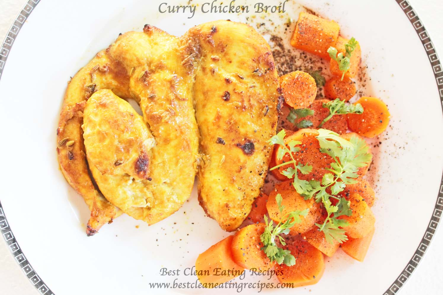 Clean Eating Dinner Idea – Curry Chicken Broil
