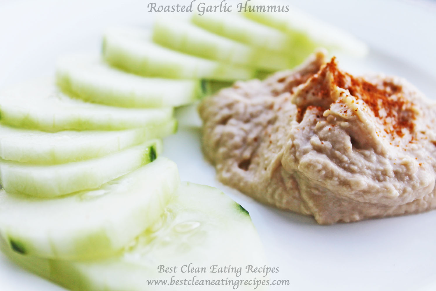 Clean Eating Snack Recipe – Roasted Garlic Hummus