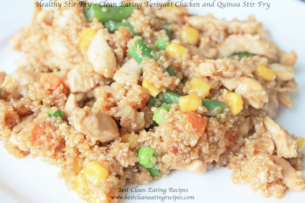 Healthy Stir Fry - Clean Eating Teriyaki Chicken and Quinoa