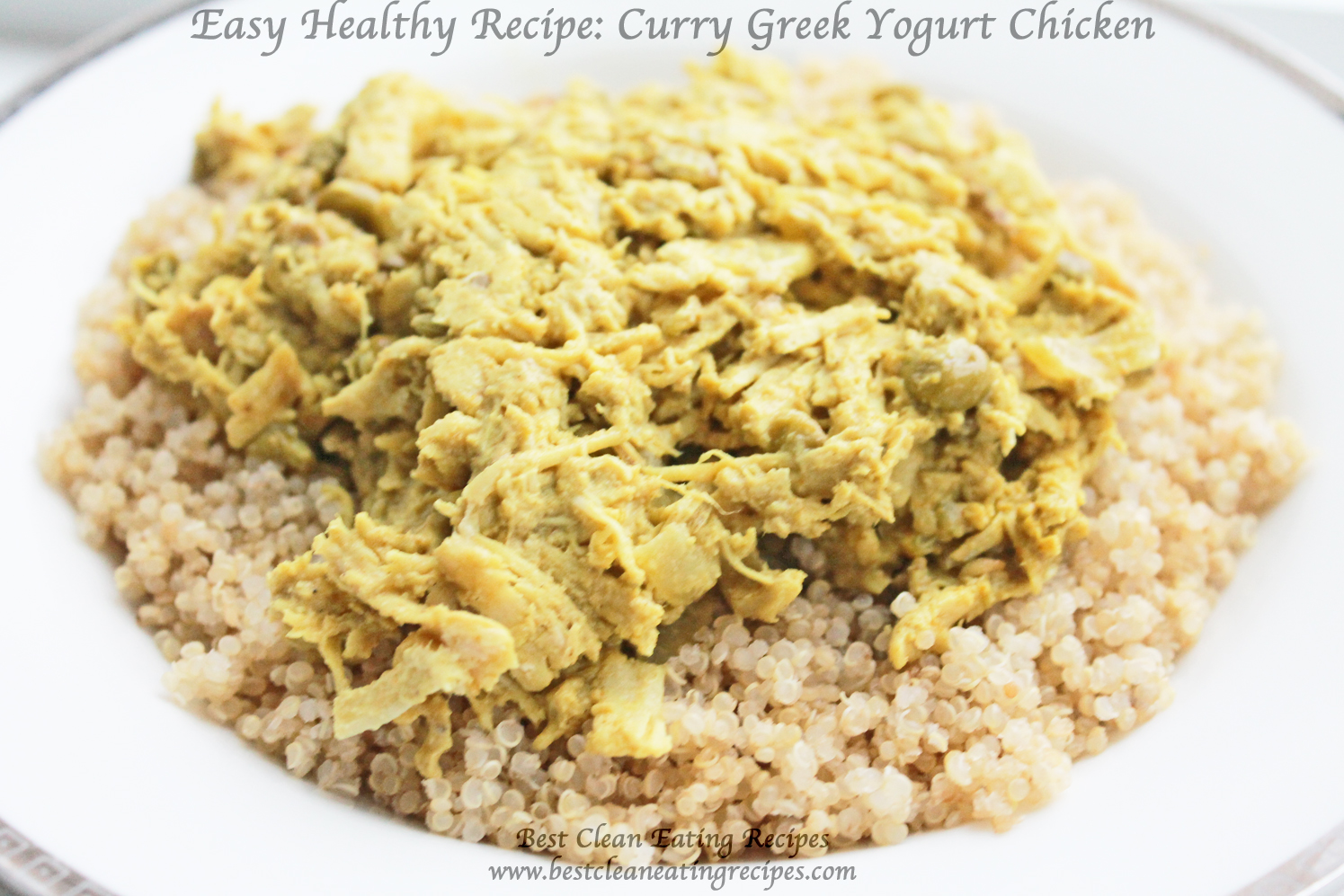 Healthy Meal for Clean Eating: Curry Greek Yogurt Chicken