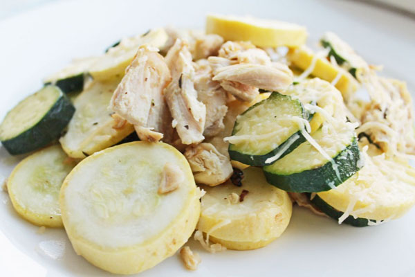 Clean Eating Recipe: Chicken, Zucchini and Parmesan Melt